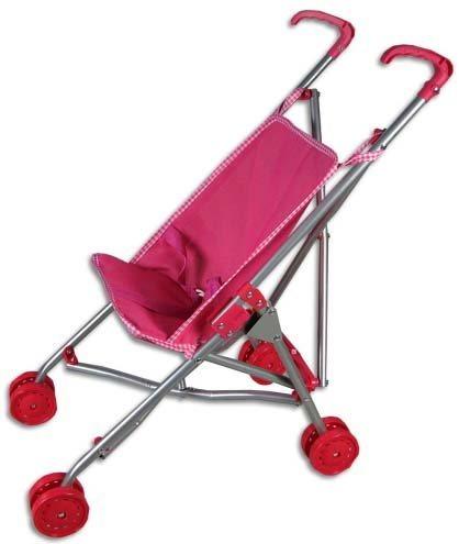 Kočárek pro panenky růžový - golfový