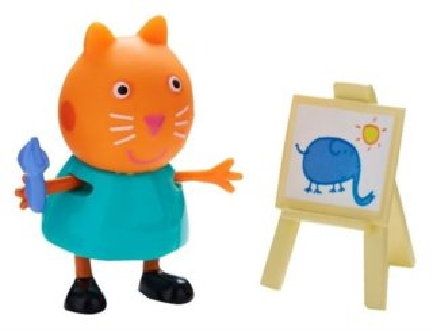 Kočka Candy s malířským stojanem