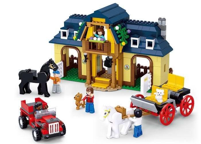 Stavebnice SLUBAN Koňská farma