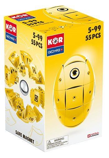 GEOMAG Stavebnice KOR - Žlutá 55 dílků