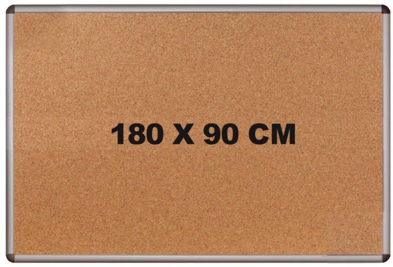 Korková tabule s hliníkovým rámem 180x90cm