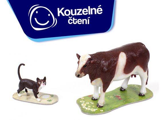 ALBI Kouzelné čtení: Hra Na farmě rozšíření - Kráva a kočka