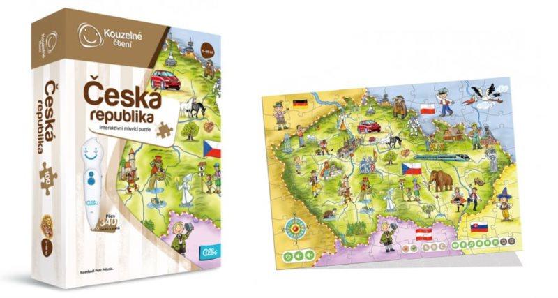 ALBI Kouzelné čtení: Puzzle Česká republika