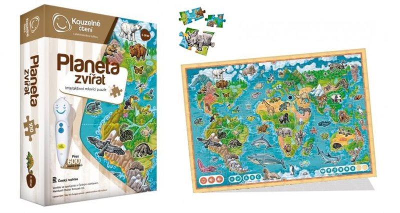 ALBI Kouzelné čtení: Puzzle Planeta zvířat