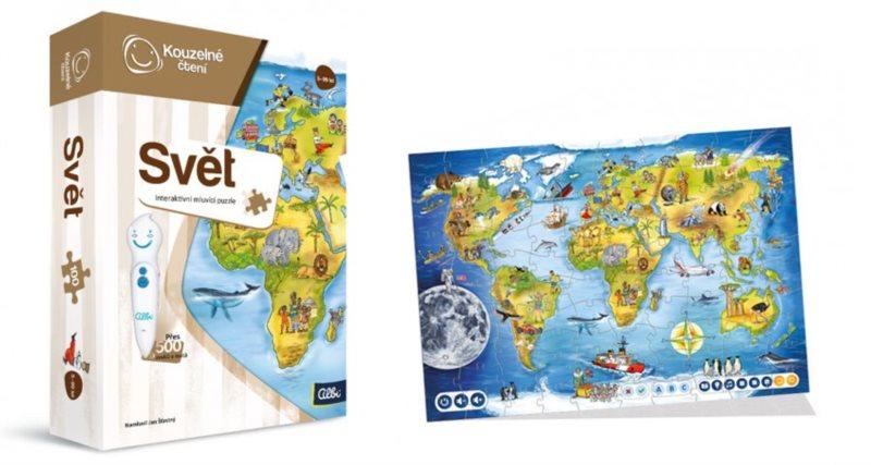 ALBI Kouzelné čtení: Puzzle Svět