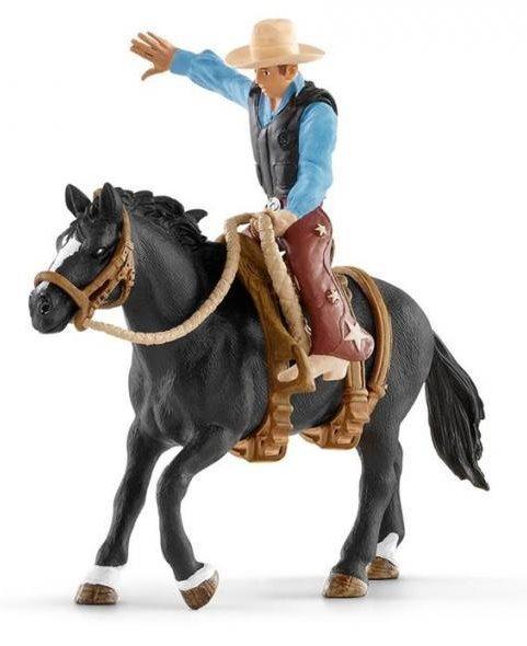SCHLEICH 41416 Kovboj na osedlaném koni