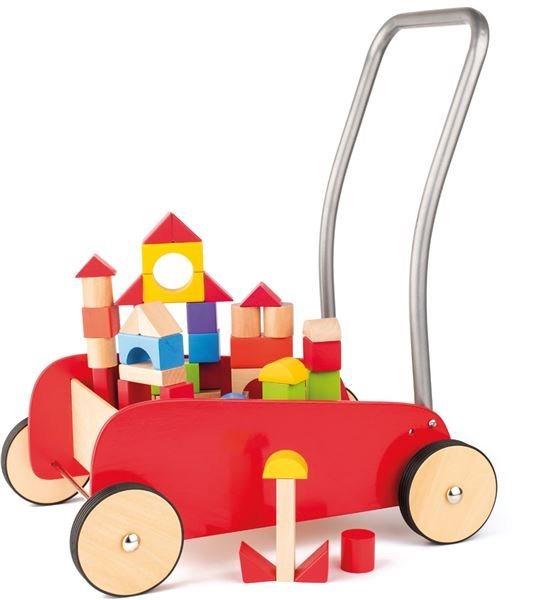 WOODY, Kovový vozík s kostkami