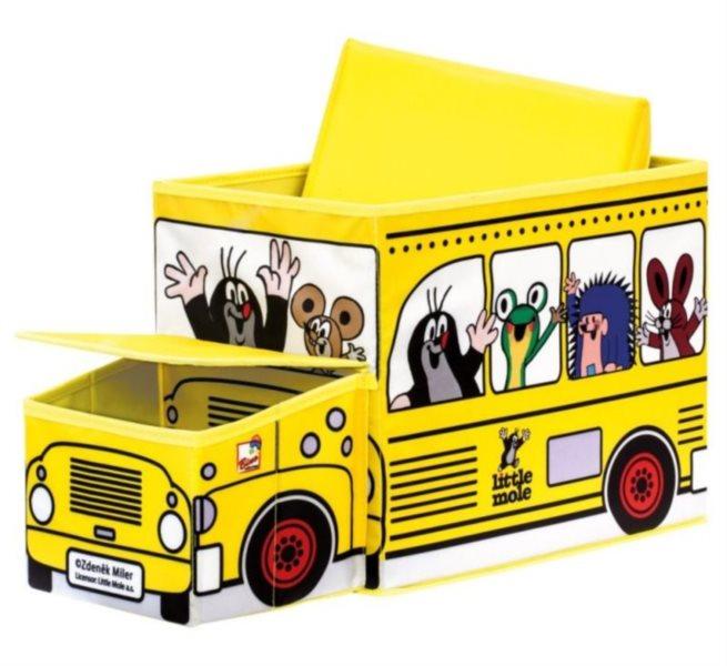 Krteček - krabice na hračky autobus BINO 13793