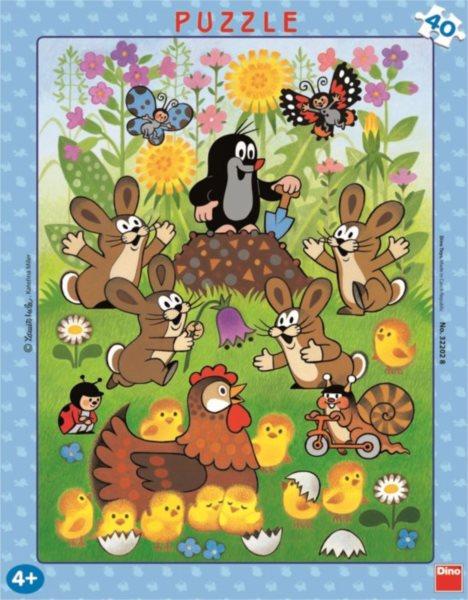 DINO Puzzle Krtek a jaro 40 dílků