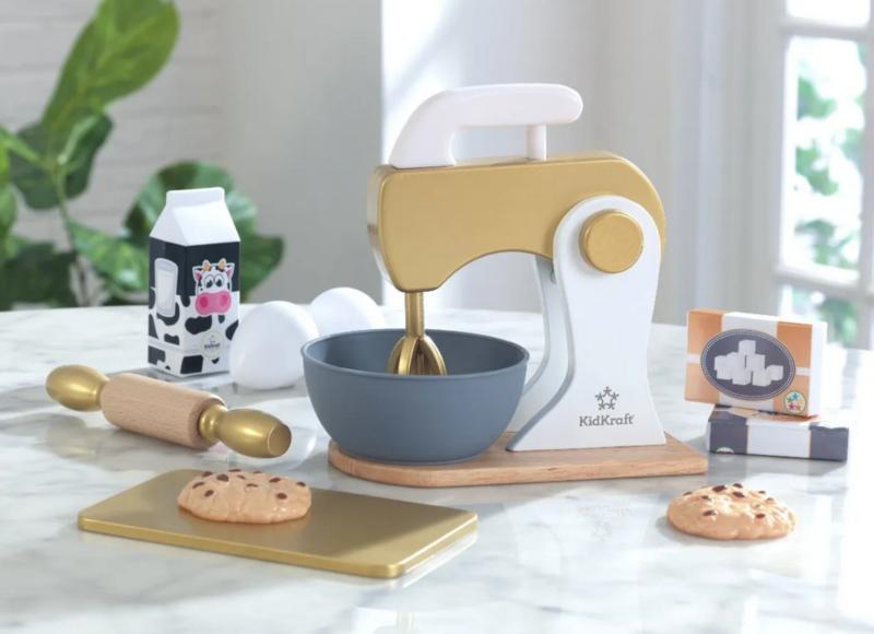 KIDKRAFT Kuchařská sada na pečení s mixérem - zlatý