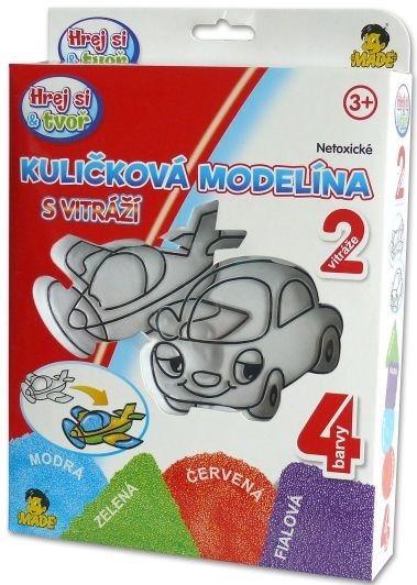 Hrej si & tvoř - Kuličková modelína: Autíčko a letadlo