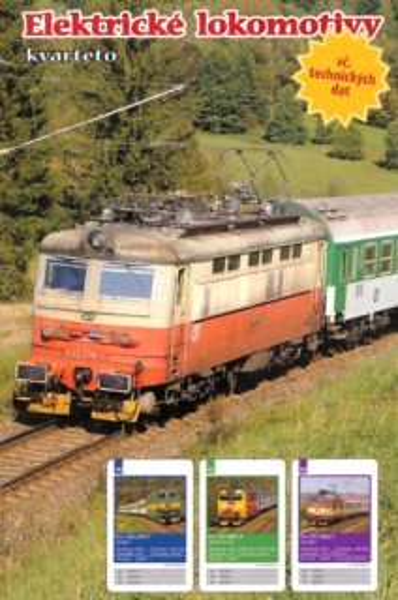 Dětské karty Kvarteto - Elektrické lokomotivy