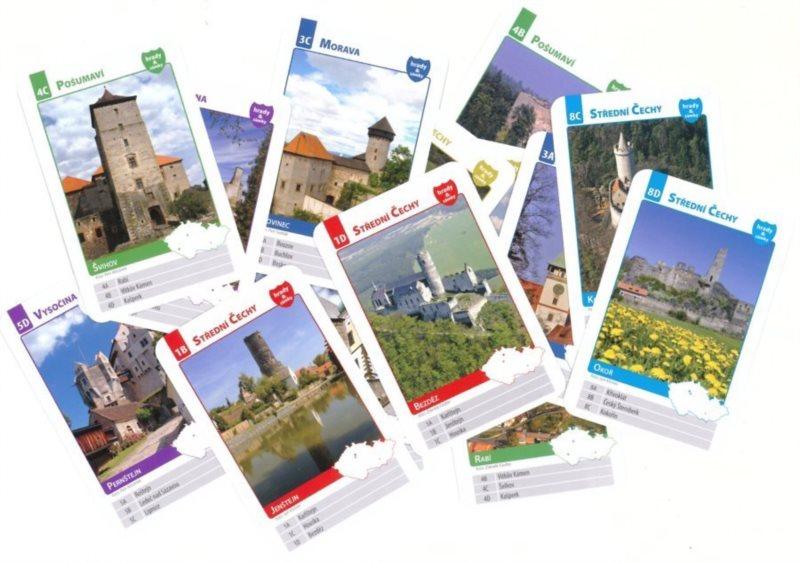 Dětské karty Kvarteto - hrady a zámky