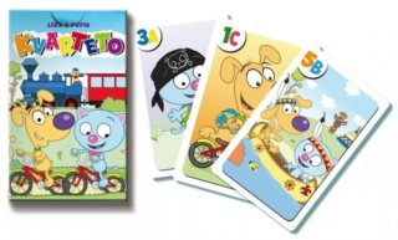Dětské karty Kvarteto - Líza a Pupík, Bonaparte