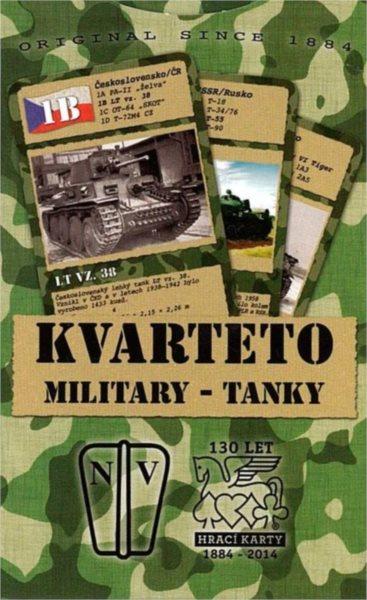 Karty Kvarteto Military - Tanky