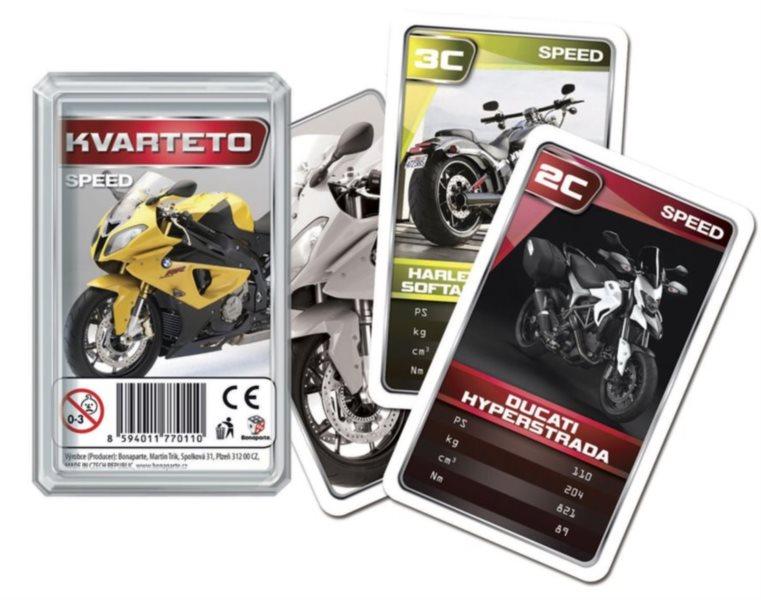 Dětské karty Kvarteto - MOTO Speed, Bonaparte