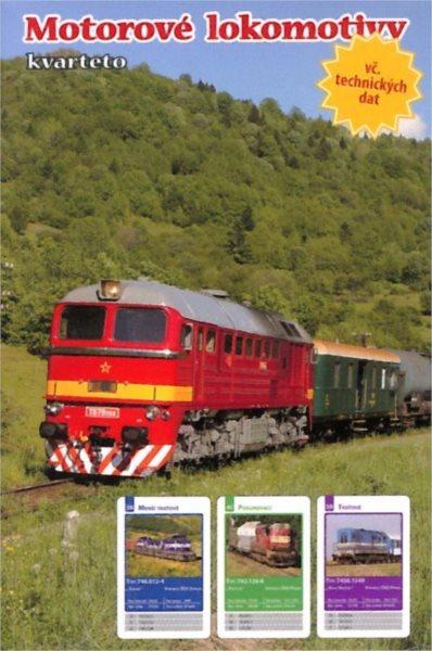 Dětské karty Kvarteto - Motorové lokomotivy