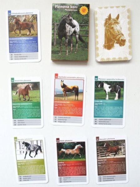 Dětské karty Kvarteto - Plemena koní