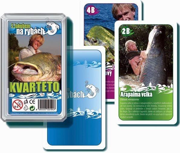 Dětské karty Kvarteto - S Jakubem na rybách, Bonaparte