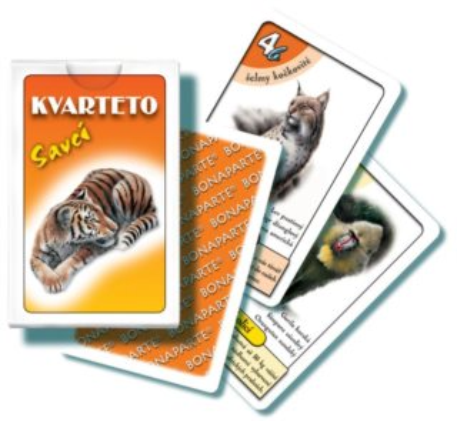 Dětské karty Kvarteto - Savci, Bonaparte