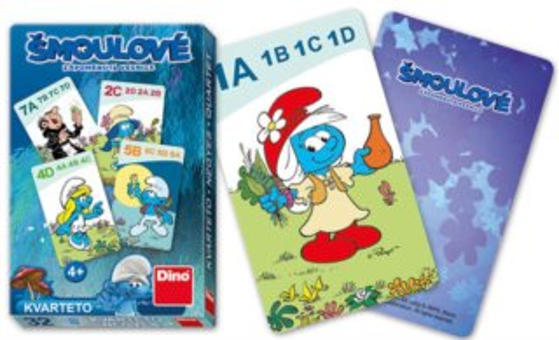 Dětské karty DINO, Kvarteto - Šmoulové: Zapomenutá vesnice