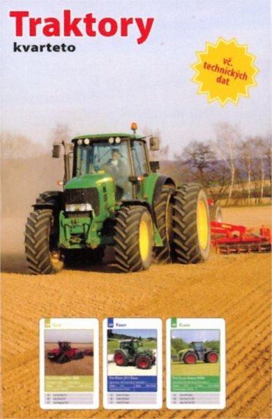 Dětské karty Kvarteto - Traktory