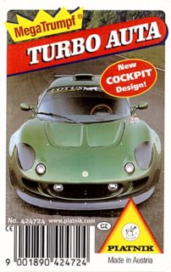 Dětské karty Kvarteto - Turbo auta, PIATNIK