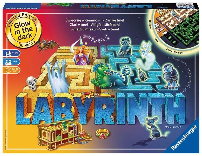 RAVENSBURGER Společenská hra Labyrint Noční edice