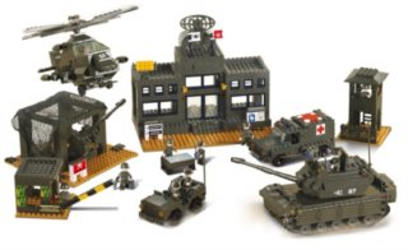 Stavebnice SLUBAN Land Force: Velitelství