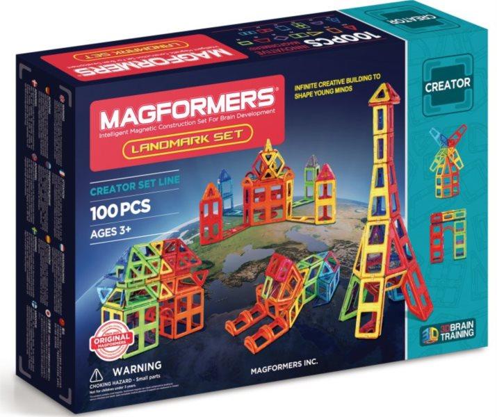 Magnetická stavebnice MAGFORMERS Landmark 100 dílků