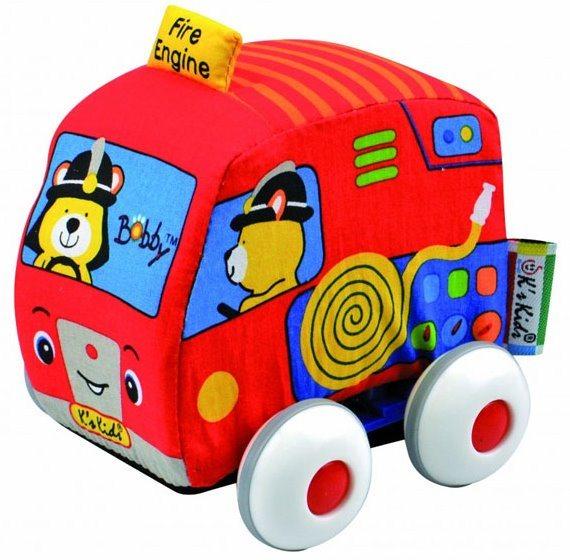 K´S KIDS, Látkové auto s natahovacím pohonem: Hasiči