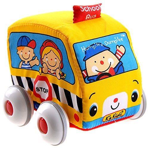 K´S KIDS, Látkové auto s natahovacím pohonem: Školní autobus