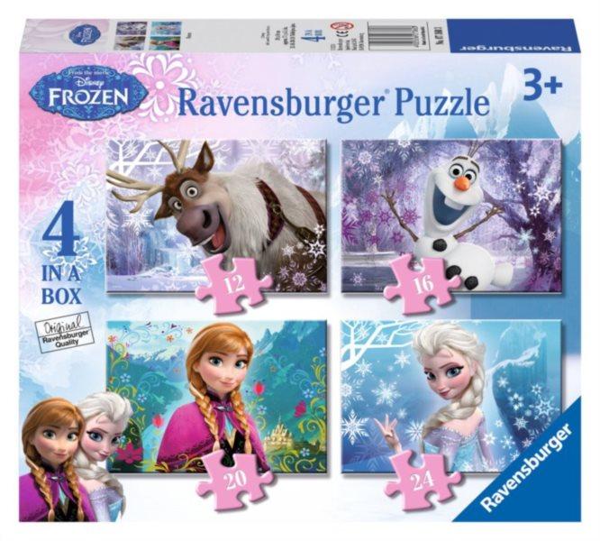 RAVENSBURGER Puzzle Ledové království 4v1 (12,16,20,24 dílků)