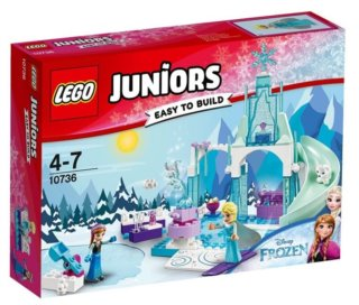Stavebnice LEGO® Juniors 10736 Ledové království: Ledové hřiště pro Annu a Elsu