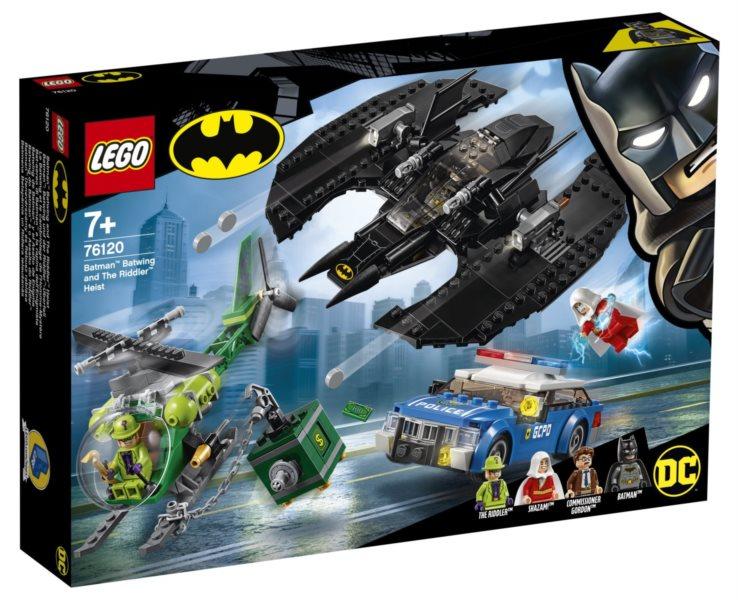 LEGO® DC Comics Super Heroes 76120 Batmanovo letadlo a Hádankářova krádež