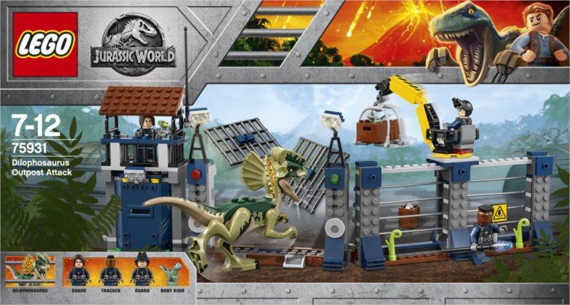 LEGO® Jurassic World 75931 Útok Dilophosaura na hlídku