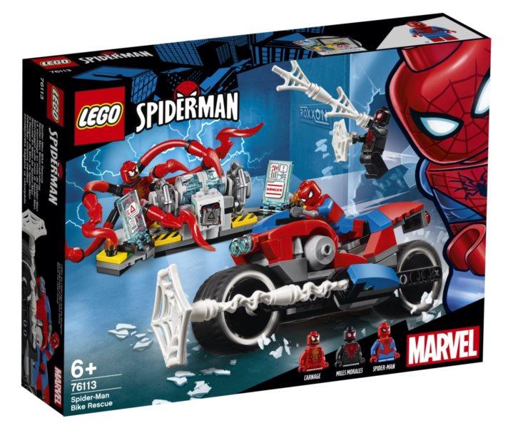 LEGO® Marvel Super Heroes 76113 Spider-Man a záchrana na motorce