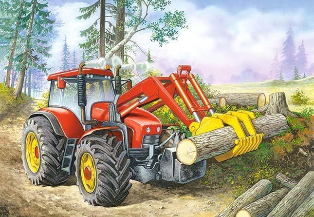 CASTORLAND Puzzle Lesní traktor 60 dílků