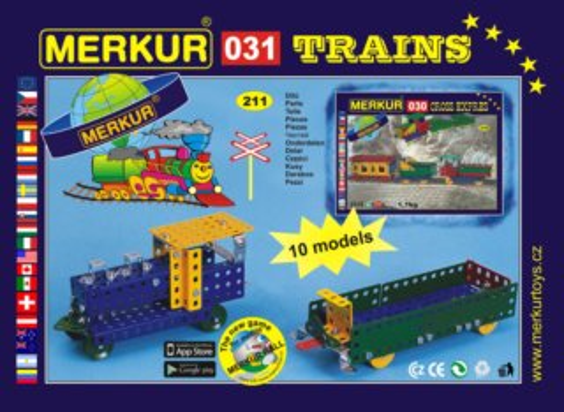 Stavebnice MERKUR - Vlaková souprava M031