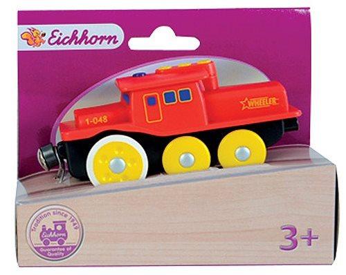 EICHHORN Lokomotiva Wheeler červená (pro dřevěné vláčkodráhy)