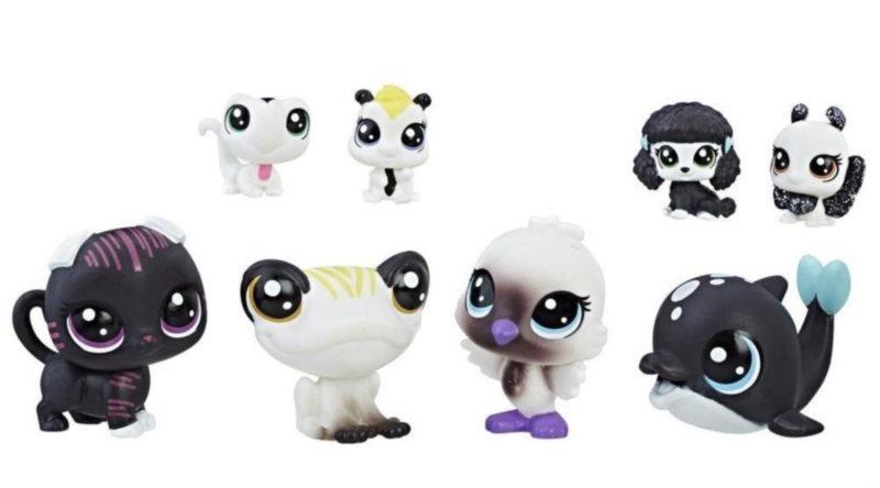 LPS Černobílý set zvířátek 8ks (A)