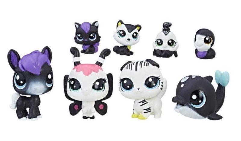LPS Černobílý set zvířátek 8ks (F)