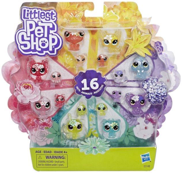 Hasbro Littlest Pet Shop LPS Sada Květinová zvířátka 16 ks