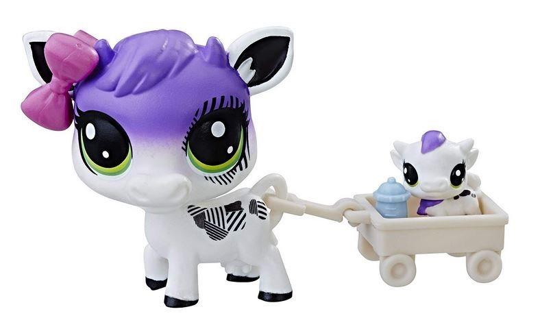 Littlest Pet Shop LPS Série 1 Černobílý set zvířátek Kravičky #1-55 a #1-56