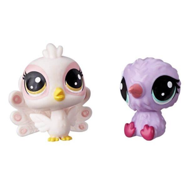 Hasbro Littlest Pet Shop LPS Série 2 Set zvířátek 2 ks (páv+ptáček)