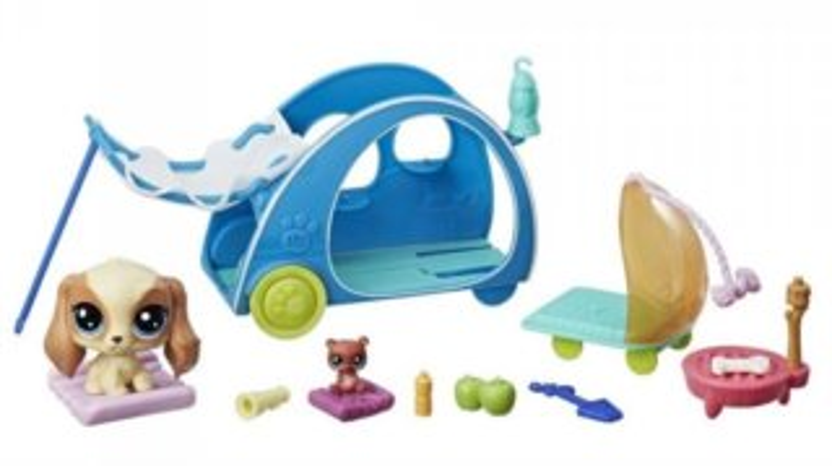 Hasbro Littlest Pet Shop LPS Série 2 Tématický set Útulné kempování