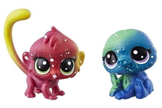 Hasbro Littlest Pet Shop LPS Série 3 Kosmický set zvířátek 2ks (opička a lenochod)