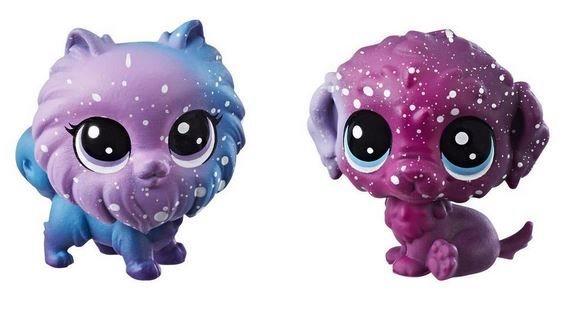 Hasbro Littlest Pet Shop LPS Série 3 Kosmický set zvířátek 2ks (pejsci)