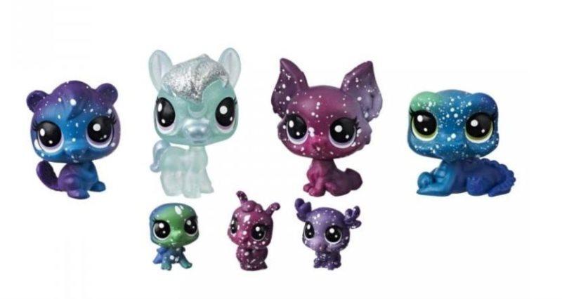 Hasbro Littlest Pet Shop LPS Série 3 Set kosmických zvířátek 7ks (B)