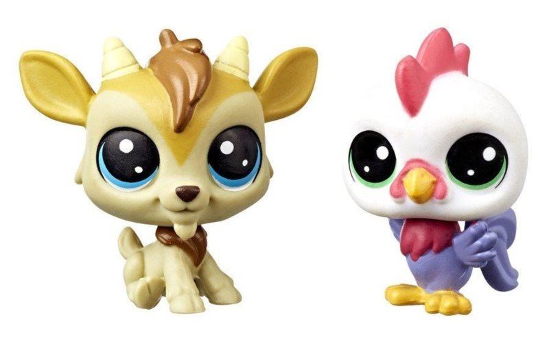 Hasbro Littlest Pet Shop LPS Série 3 Set zvířátek 2 ks (kozel a kohout)